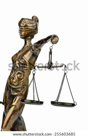 sculpture of justice, symbolic photo for equity and justice - stock photo