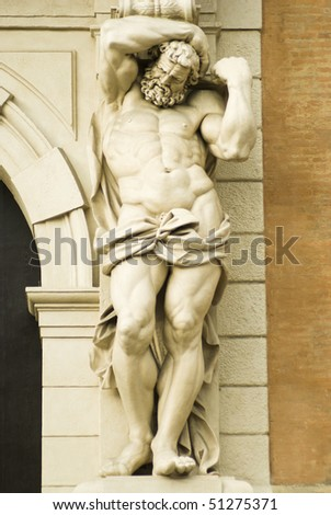 sculpture of marble - stock photo