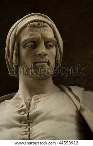 sculpture of Nicola Pisano in the Uffizi Gallery - stock photo