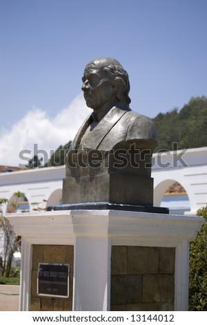 "Sculpture of One of Mexico Famous Man ""Don Miguel Hidalgo Y Costilla"" - stock photo"