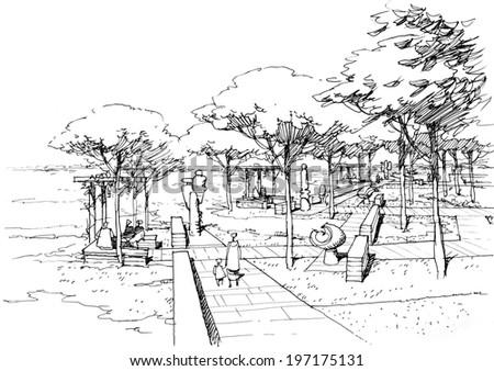 sculpture Park - stock photo