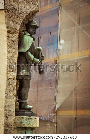 Sculpture Rothenburg Germany Romantic Medieval Town in Rothenburg Germany Vintage style