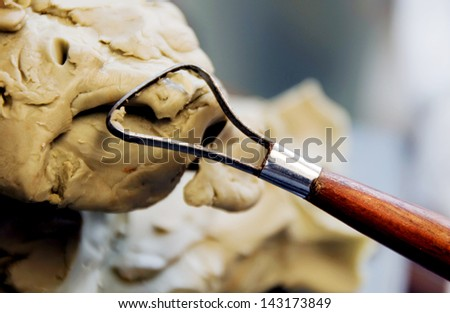 Sculpture Tool. - stock photo