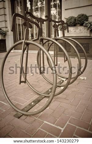Sculptures at Downtown Portland, Oregon - stock photo
