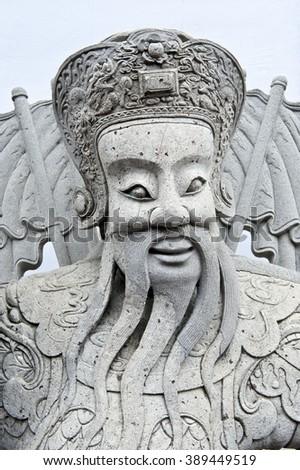 Sculpure from the buddhist temple - Bangkok - stock photo