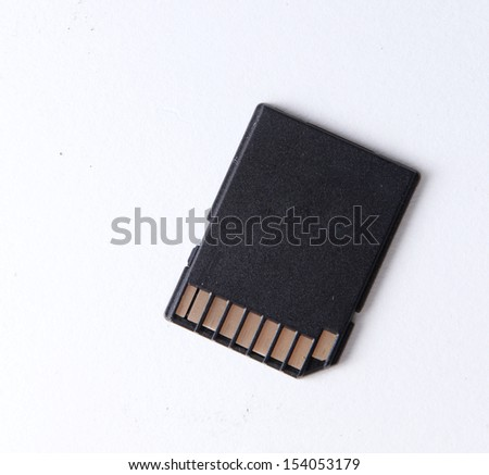 SD card digital storage device - stock photo