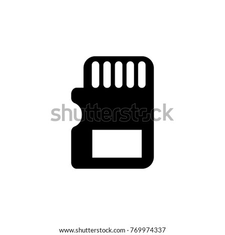 Sd Card Icon Pc Hardware Element Stock Illustration 769974337