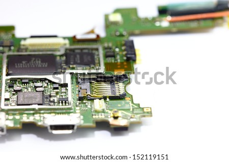 SD card slot on electronic board