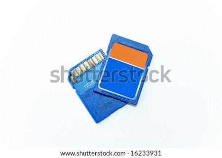 SD memory card - stock photo