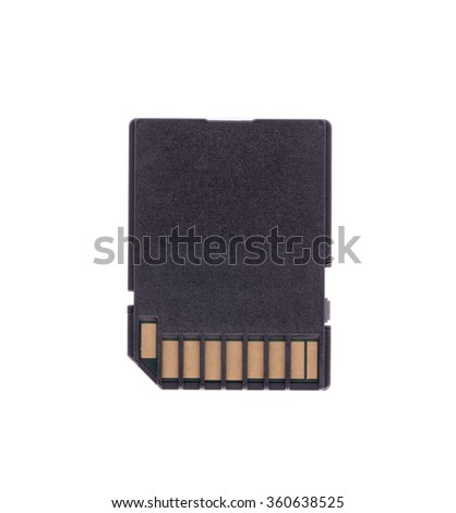 SD memory card isolated on white background - stock photo