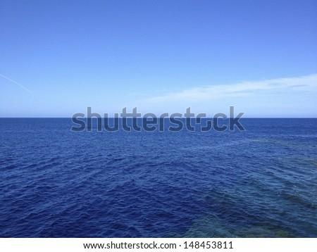 sea - stock photo