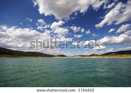 Sea, a blue sky and clouds