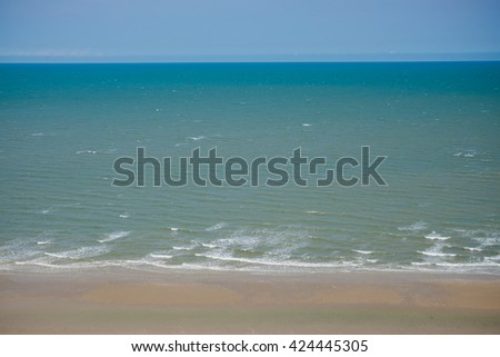 Sea and beach