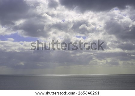 sea and cloudy sky - stock photo