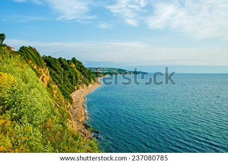 sea and coast of the city Byala in Bulgaria