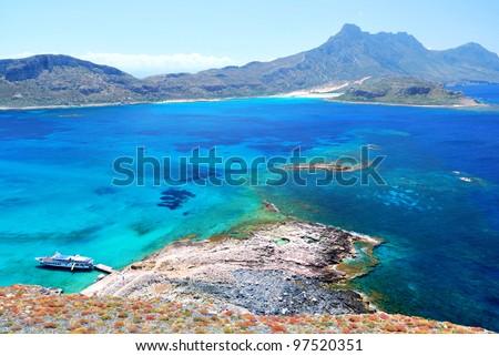 Sea and Mountain View - stock photo