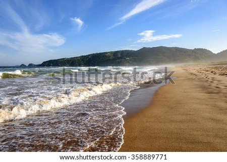 Sea and sand of Tucuns beach in Buzios  - stock photo