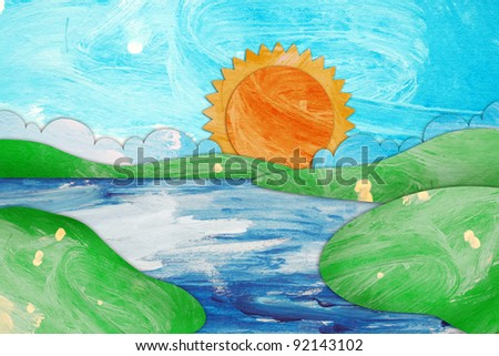 sea and sky paint brushes paper craft stick