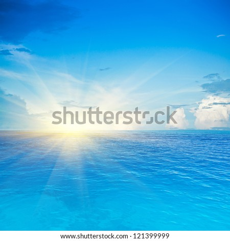 Sea and sky. Tropical quad composition - stock photo