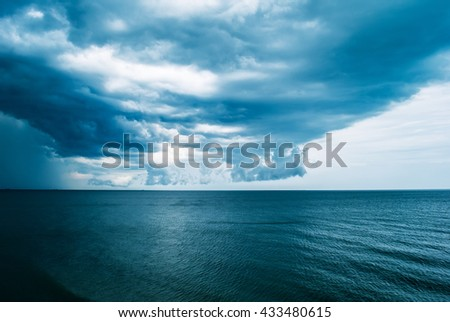 Sea and waves during storm. Natural composition.