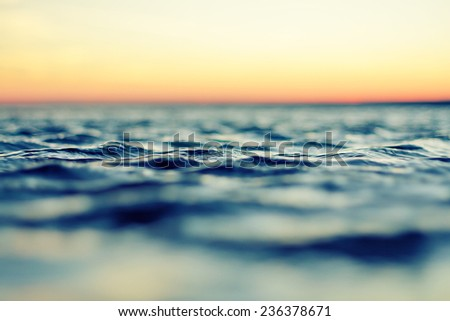 sea at sunset in summer