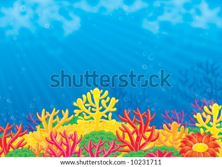 Sea background - stock photo