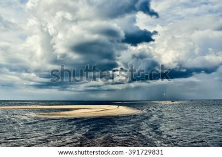 Sea Baltic, Latvia - stock photo