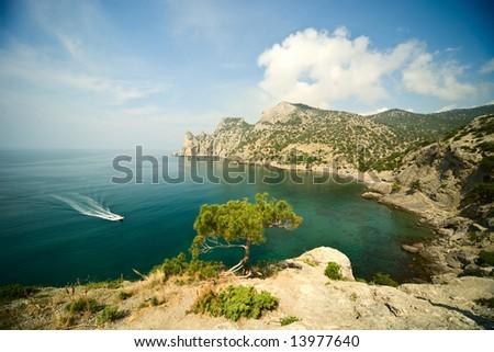 sea bay landscape - stock photo