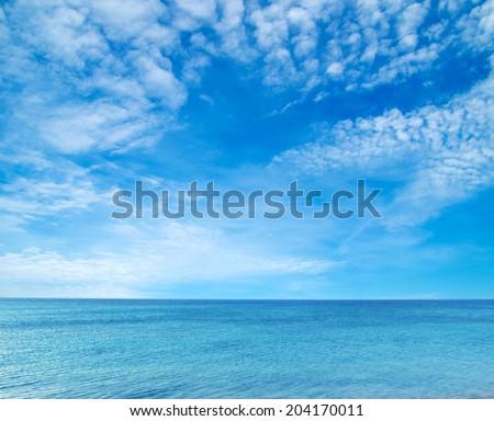 sea beach blue sky  - stock photo