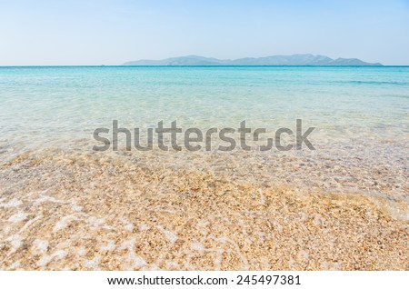 sea beach blue sky and sunlight relaxation landscape of Thailand - stock photo