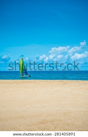 Sea beach blue sky in Phuket island Thailand