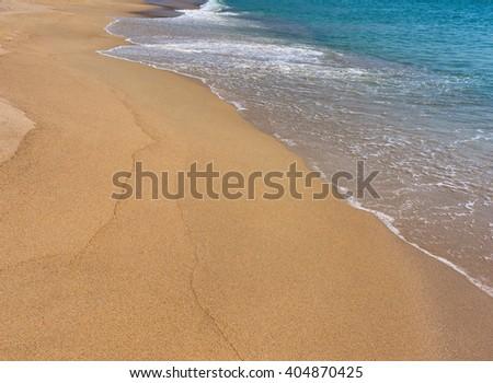 Sea beach on the Pacific Ocean, the summer. - stock photo