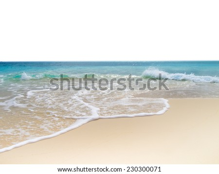 Sea beach with  exposure background - stock photo
