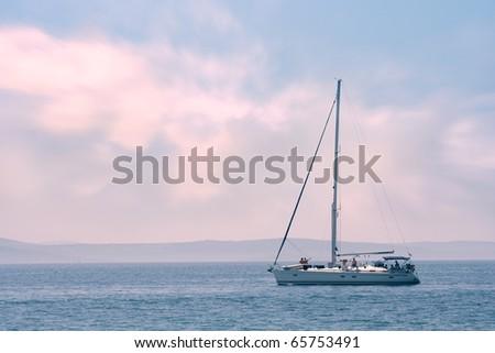 sea boat - stock photo
