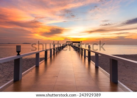 Sea bridge - stock photo