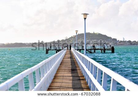 Sea bridge - stock photo