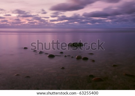 Sea calm - stock photo