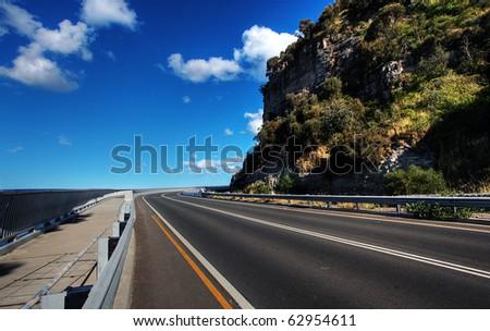 Sea Cliff Bridge along the Grand Pacific Drive - stock photo