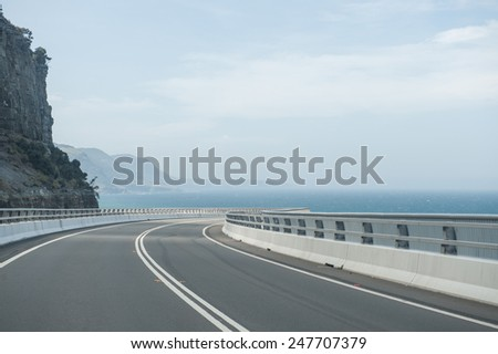 Sea Cliff Bridge along the Grand Pacific Drive, NSW, Australia.  - stock photo