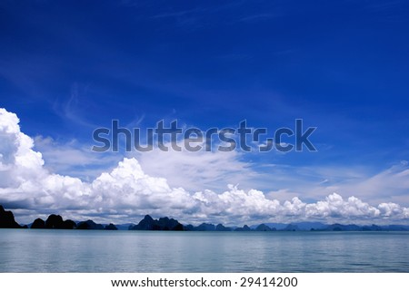 sea clouds landscape - stock photo
