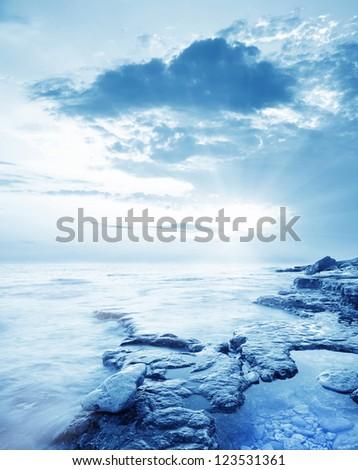 sea coast - stock photo