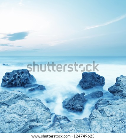 sea coast - stock photo
