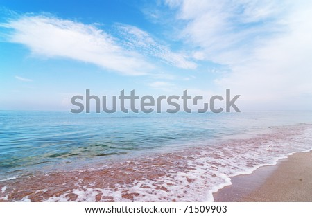 Sea coast for using as background - stock photo