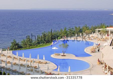 sea coast pool - stock photo