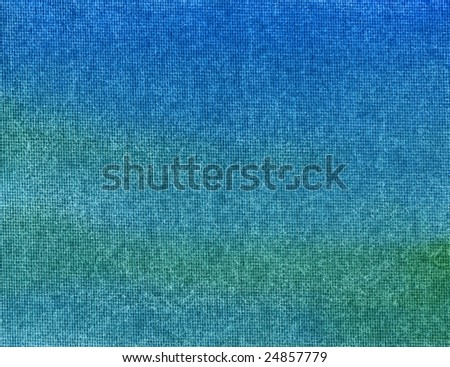 Sea colors watercolor painted canvas macro close up. - stock photo