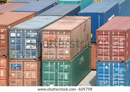 Sea containers - stock photo