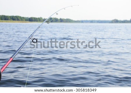 Sea Fishing with Spinning, Bait. - stock photo