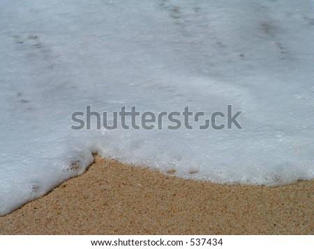 Sea foam - stock photo