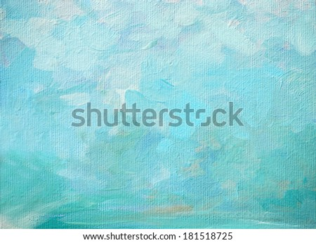 sea foam and splashes, painting by oil on canvas,illustration,background - stock photo