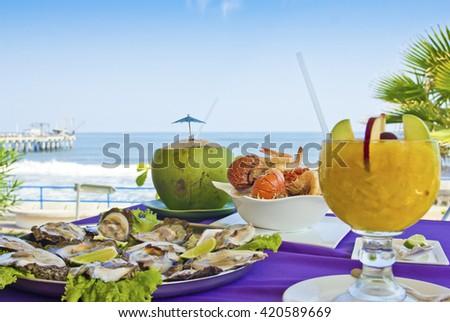 Sea Food El Salvador - stock photo